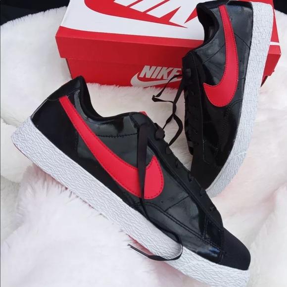 Nike Shoes | Nike Blazer Black Red